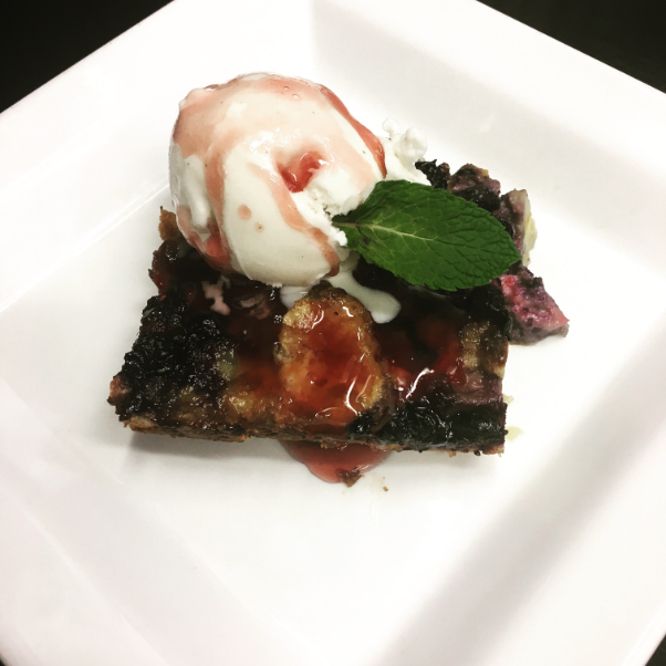 Blueberry Angel Food  Bread Pudding